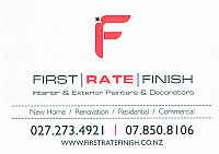 First Rate Finish Logo